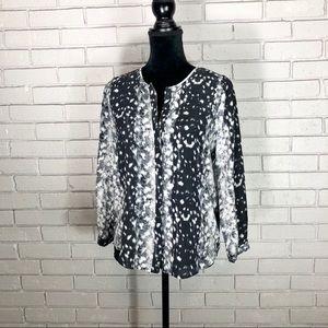 Joie Women's Purine Print Silk Blouse